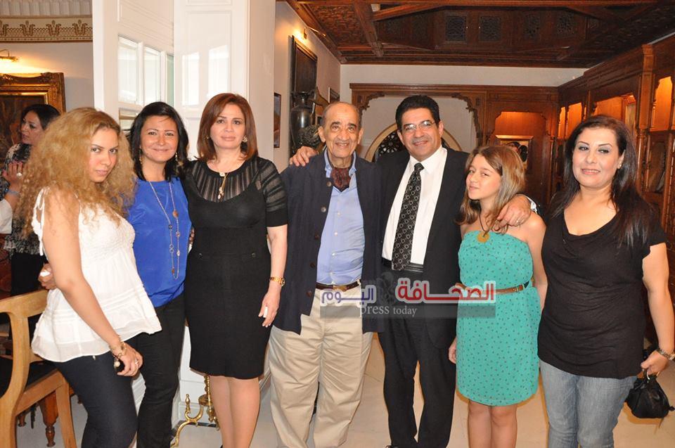 بالصور ..سفراء وإعلاميون فى حفل تكريم إلهام شاهين