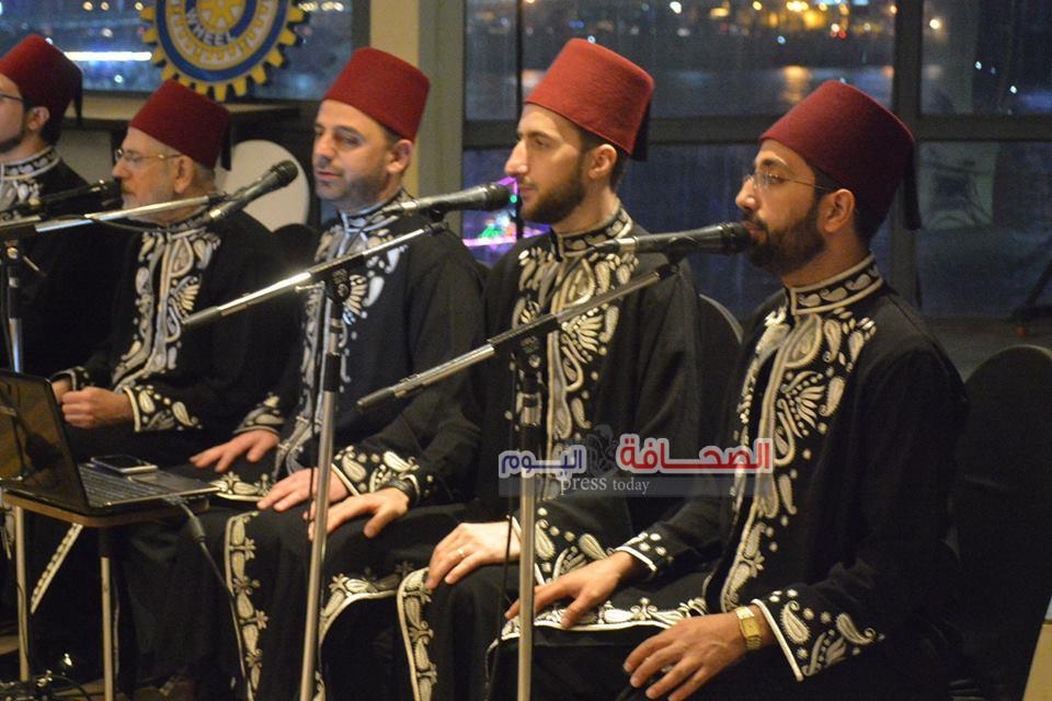 بالصور :فرقة الرضوان السورية تحيى أمسية رمضانية