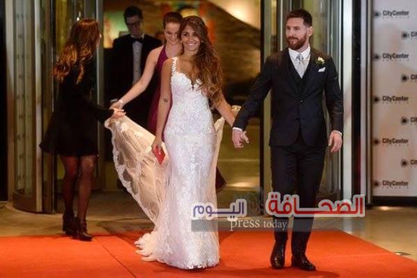 بالصور .. زفاف نجم الكرة ليونيل ميسى و أنتونيلا روكوزو