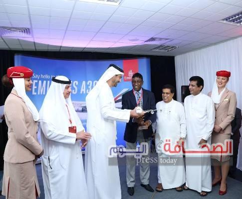 طائرة الإمارات الإيرباص A380 تصل إلى كولومبو لأول مرة
