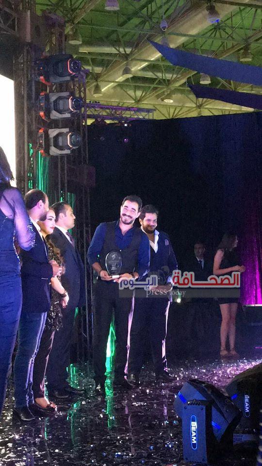بالصور : تكريم الفنانيين المصريين فى مهرجان النخبة للإعلام العربى