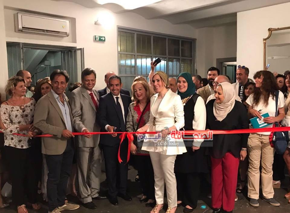 بالصور : إفتتاح أكبر معرض فنى جماعى مصرى فى روما