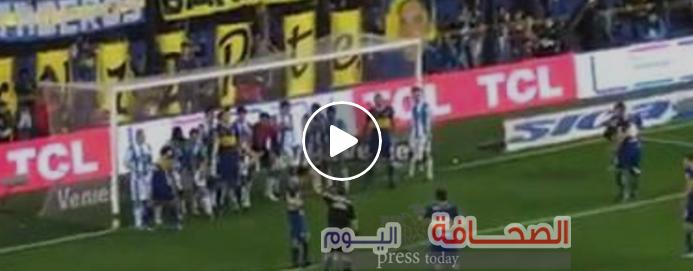 بالفيديو : أصعب هدف يمكن أن تشاهده فى مباراة كرة قدم