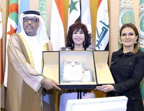 اتحاد المستثمرات العرب يكرم الشيخة فاطمة بنت مبارك بحضور سفير الامارات بمصر.