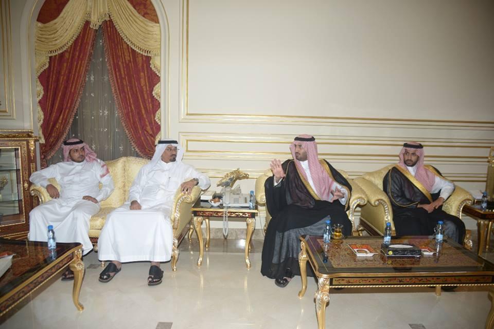 الأميران عبد العزيز وتركي بن فيصل في ضيافة العبداللطيف