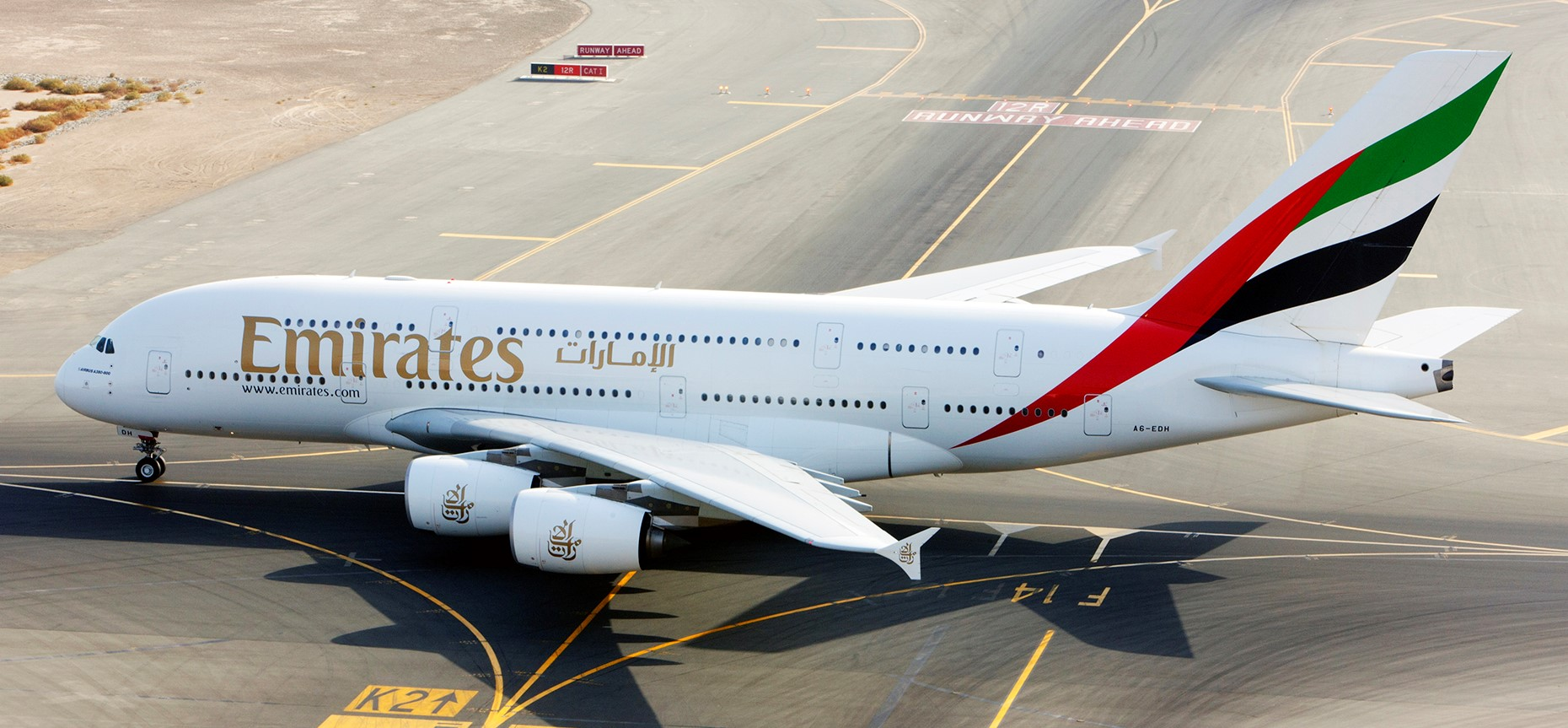 طيران الإمارات تشارك البحرين احتفالات اليوم الوطني بتشغل طائرة إيرباص A380