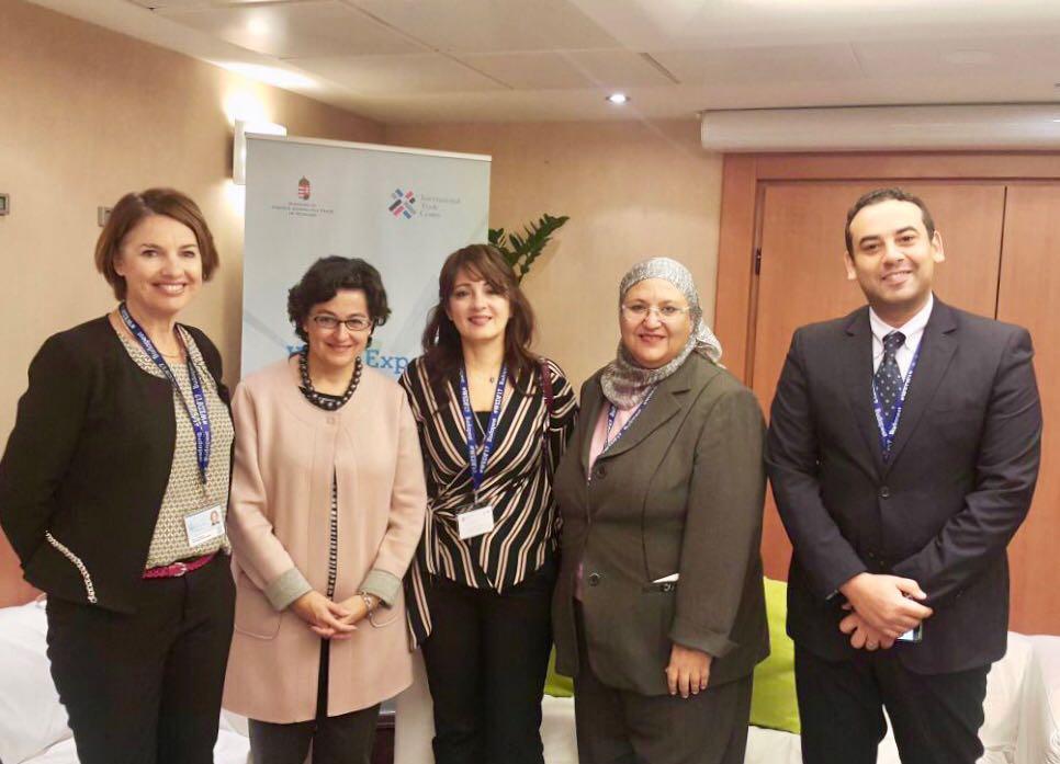 وفد هيئة تنمية الصادرات المصرية يلتقي بالمدير التنفيذي لمركز التجارة الدولية بالمجر