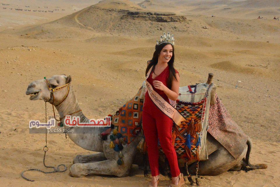 ملكة جمال العالم للسياحة :تقضى أجمل يوم بمعالم مصر السياحية