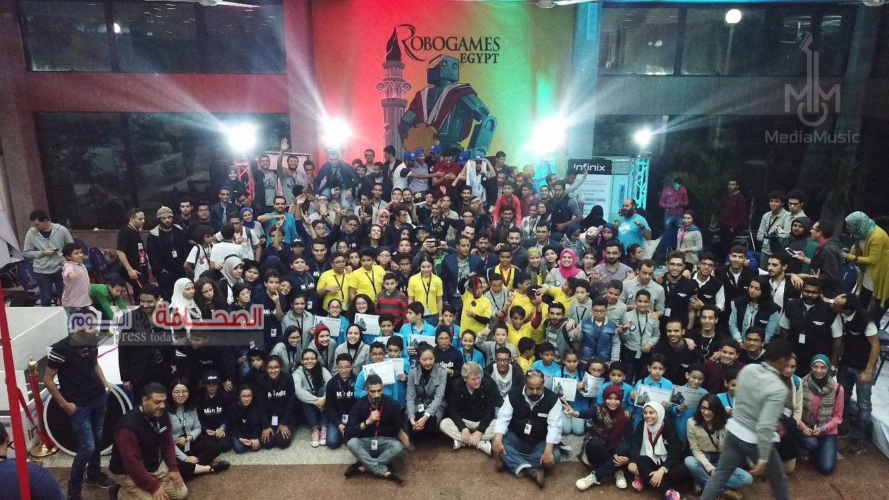 مصر تنجح في تنظيم أول بطولة Robogames