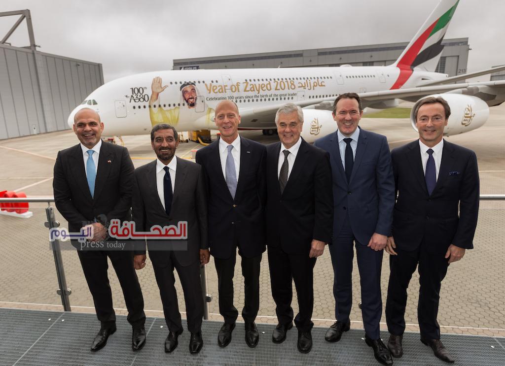 طيران الإمارات ترحب بالطائرة A380 رقم 100 في أسطولها