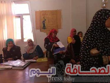 بيت العائلة المصرية يفحص المستحقين لمعاش تكافل وكرامة