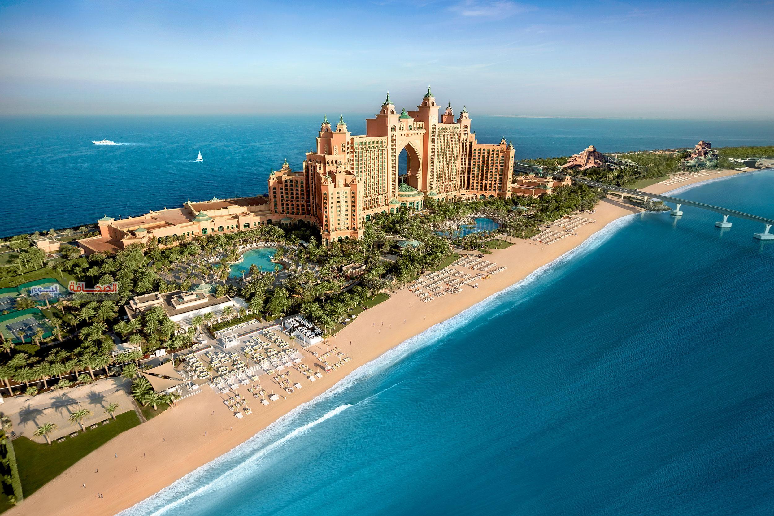 منتجع أتلانتس النخلة في دبي الأكثر شهرةً في الشرق الأوسط