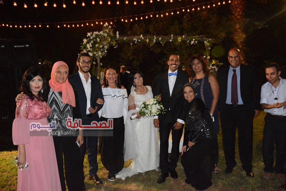 بالصور .. زفاف داليا سامى والسيد أبو سيف بالنادى السويسرى
