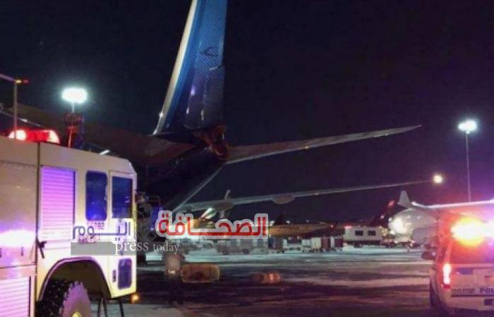 طائرة كويتية تصطدم بأخرى بمطار نيويورك وسلامة جميع الركاب