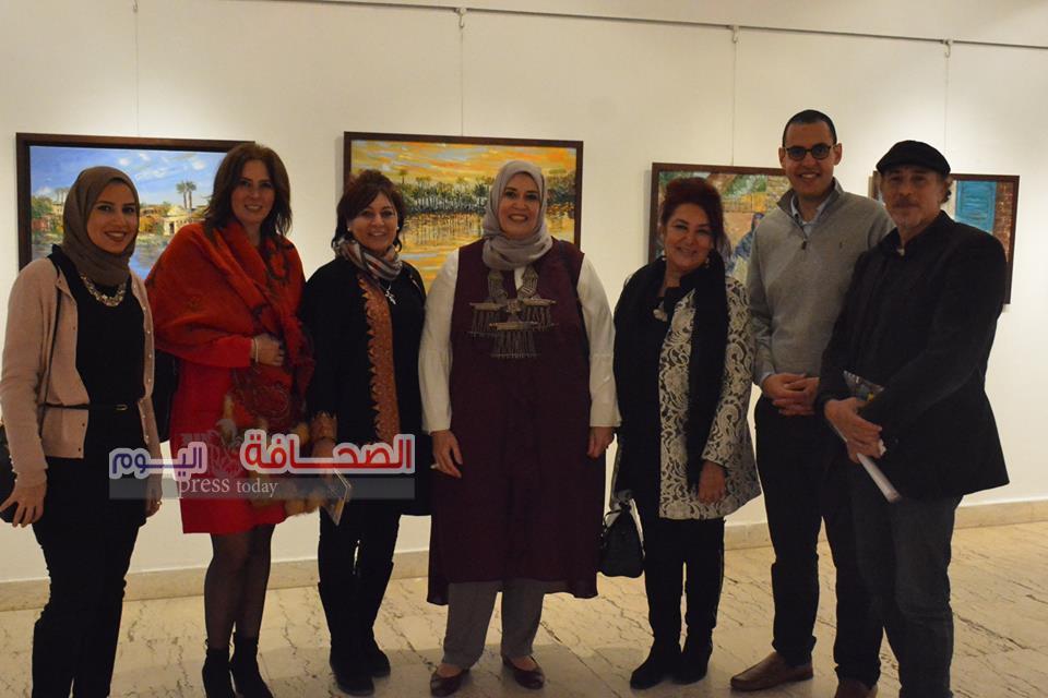 إفتتاح معرض حكايات الغندورة للفنانة أميمة السيسى