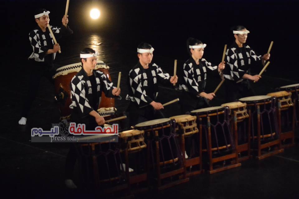 بالصور.. حفل فرقة كودو للطبول اليابانية بدار الاوبرا المصرية