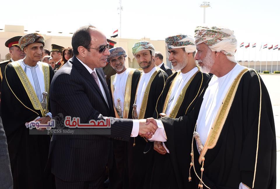 الرئيس السيسى يغادر سلطنة عمان بعد زيارة ناجحة إستغرقت ثلاثة أيام