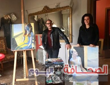 """افتتاح معرض """"العزل الأكبر"""" للفنانة هبة حسين بجاليري مصر"""
