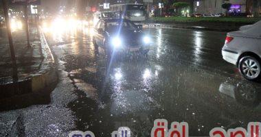 سقوط أمطار بأماكن متفرقة بمحافظة القاهرة والجيزة