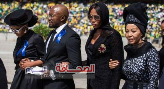 ناعومى كامبل تشارك فى جنازة وينى مانديلا