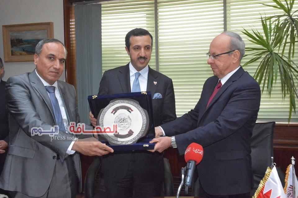 سلامة يستقبل رئيس مركز الدراسات الإستراتيجية بمملكة البحرين