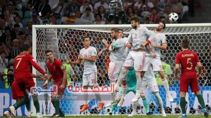 """""""رونالدو """"ينقذ البرتغال أمام أسبانيا"""