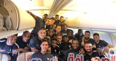 منتخب الديوك الفرنسى وصل روسيا للمشاركة فى كأس العالم