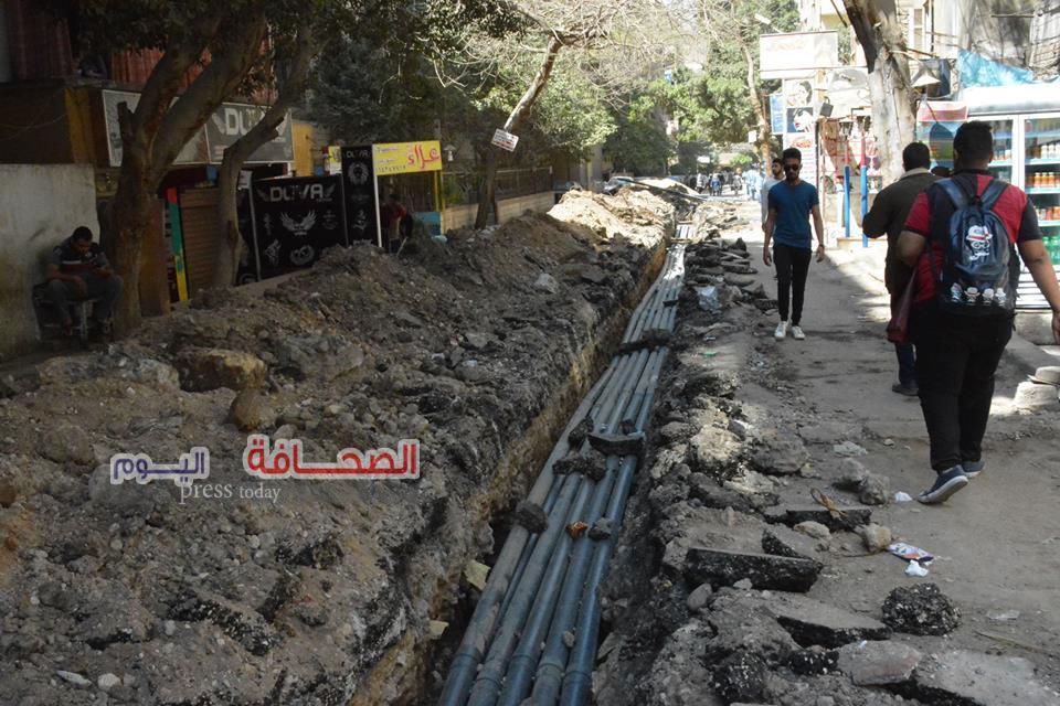 نقل شبكات المرافق العامة من شارع الهرم