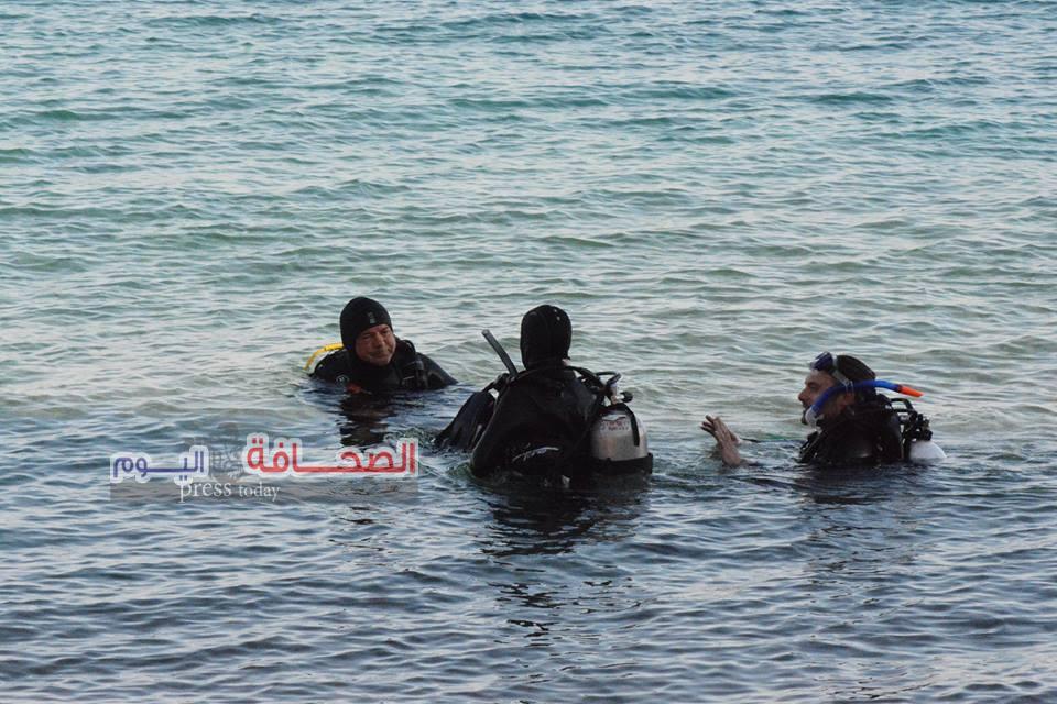 بالصور .. متعة الغوص فى مياه مدينة دهب