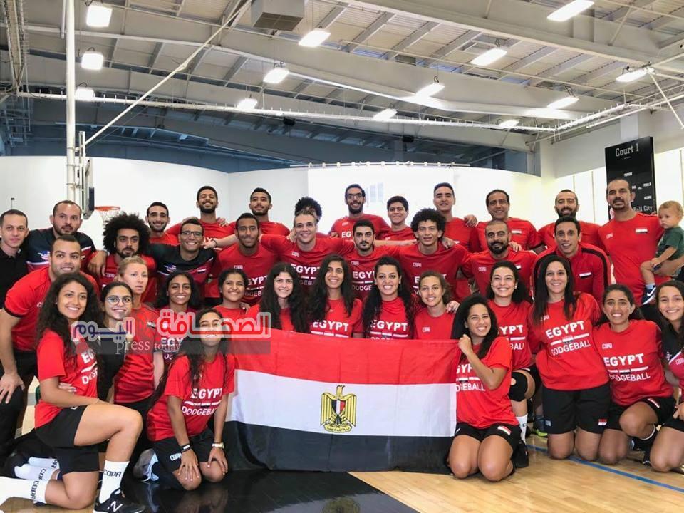 المنتخب المصري للدودج بول يحصد المركز الخامس في كأس العالم بنيويورك