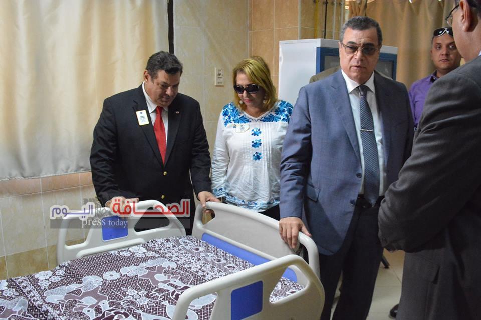 بالصور .. د. جمال سامى يفتتح وحدة رعاية الغيبوبة بمسشفى الفيوم