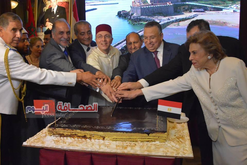 بالصور :وزراء وفنانين فى الإحتفال بعيد العرش المغربى