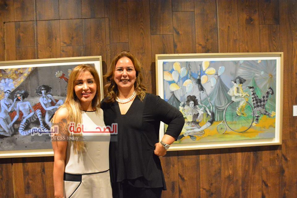 بالصور .. إفتتاح معرض الرضا لفنون نجوم السيرك للفنانة حنان يوسف