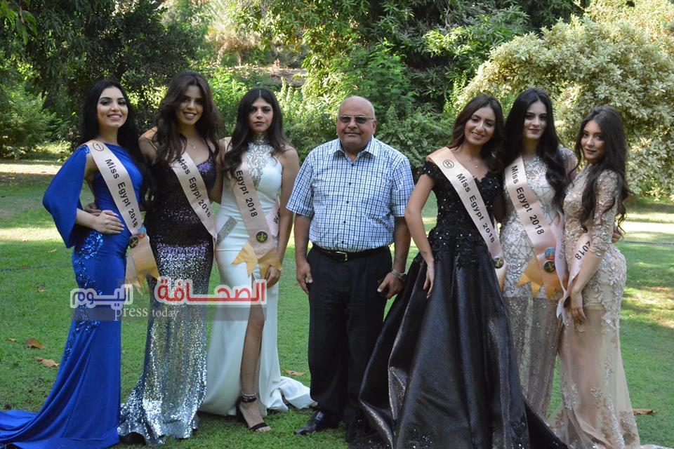 بالصور .. ملكات الجمال  فى زيارة لحديقة حيوان الجيزة