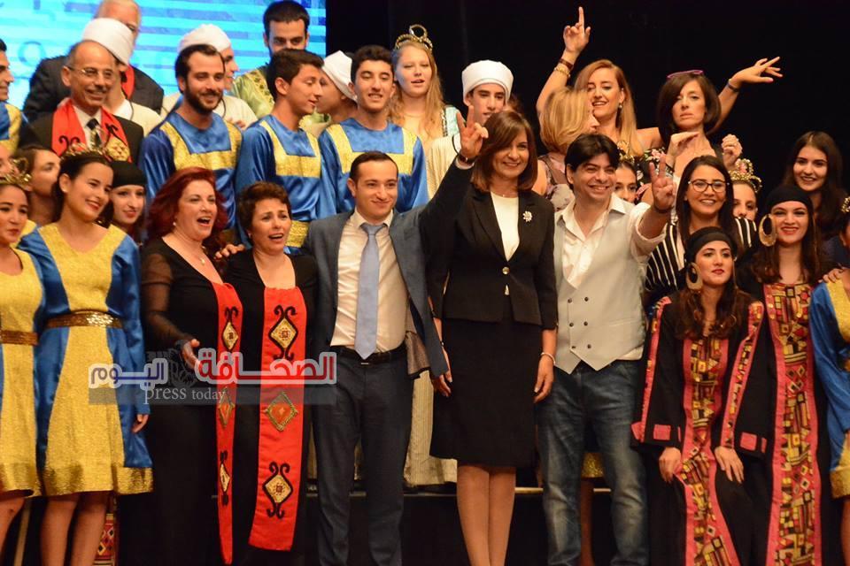 بالصور ..نبيلة مكرم تشهد إحتفالية إحنا المصريين الأرمن
