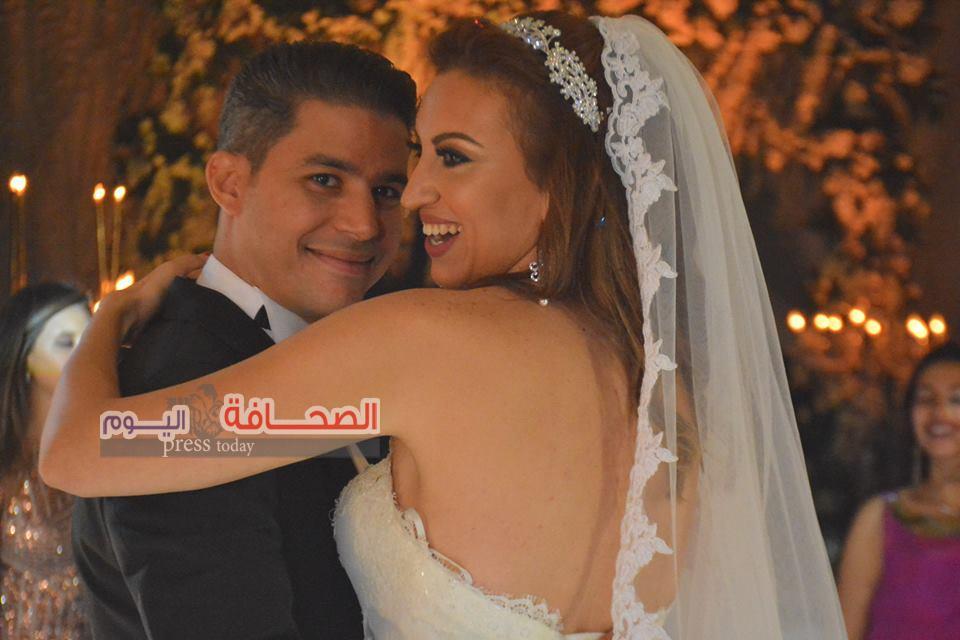 بالصور .. نجوم المجتمع  فى زفاف محمود زايدة ونسمة نوار