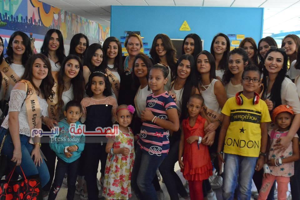 بالصور ..ملكات جمال مصر فى زيارة لمستشفى 57357
