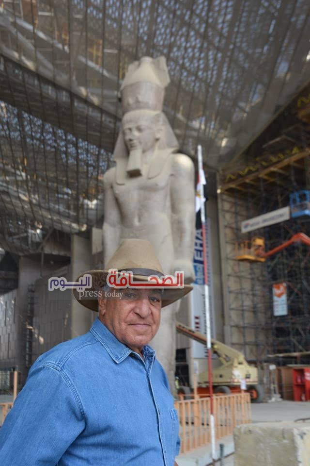 حواس يشيد بجهود الرئيس السيسى لدعمه مشروع المتحف المصرى الكبير