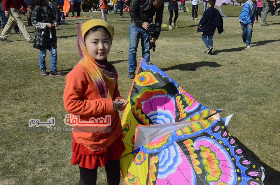 """50 طفل صينى يشاركون فى مهرجان """"مجلة علاء الدين """"للطائرات الورقية"""