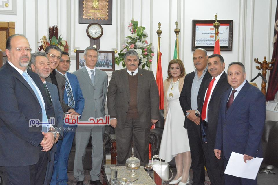 بالصور .. حفل إستقبال الدارسين ببرنامج الدراسات العليا لكرة القدم بجامعة القاهرة