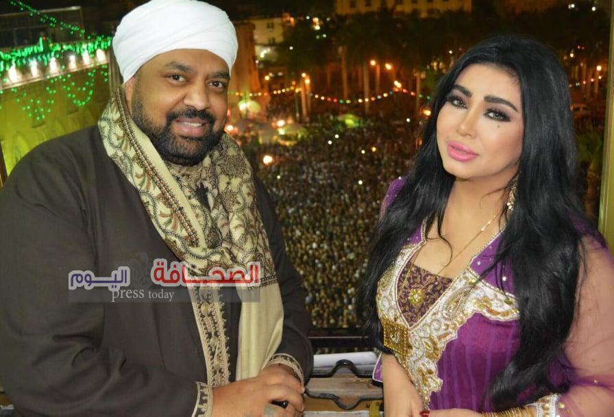 بالصور: حجازي ومروى في رحاب الحسين مع ياسين التهامي