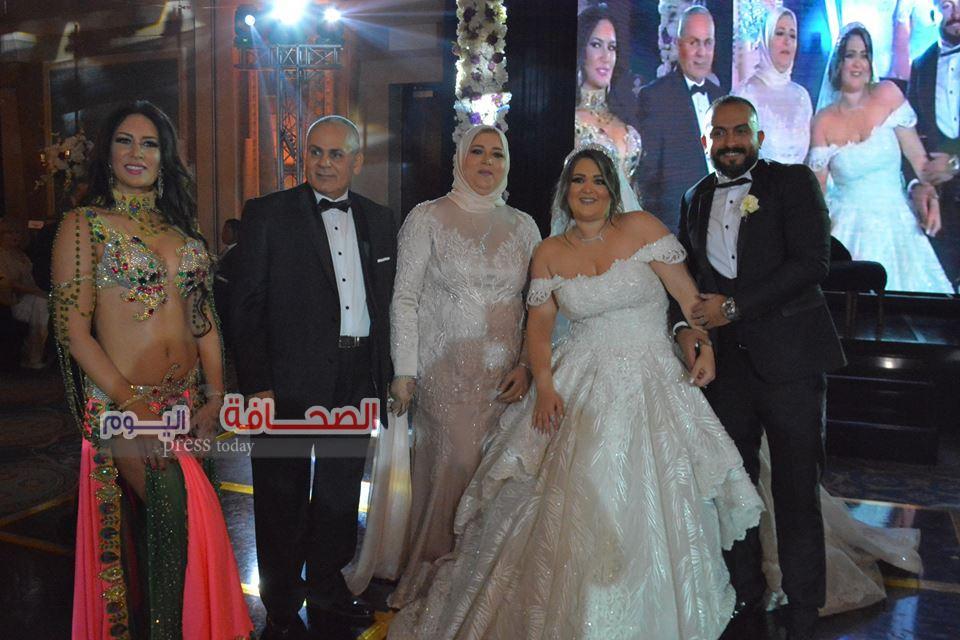 بالصور .. وزراء وإعلاميين فى زفاف نوران مصطفى النجار