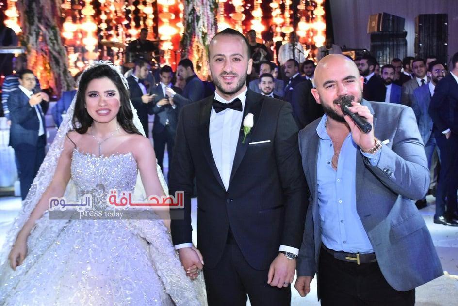 بالصور: العسيلى يحيي حفل زفاف بسمة وأحمد بحضور الزند والبحيرى