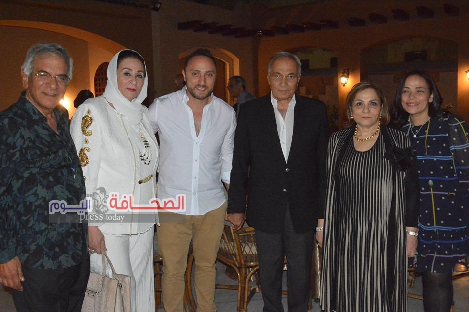 بالصور .. الفريق أحمد شفيق فى حفل إفطار اسرة اللواء إسماعيل ثابت
