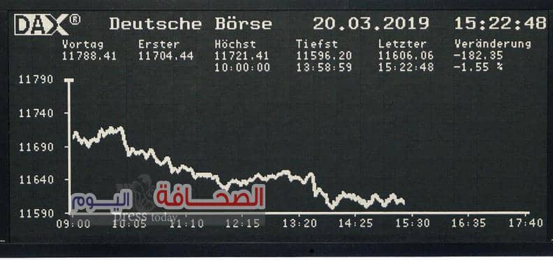"""أزمة شركة """"هواوي"""" تلقي بظلالها على الأسهم الأوروبية"""