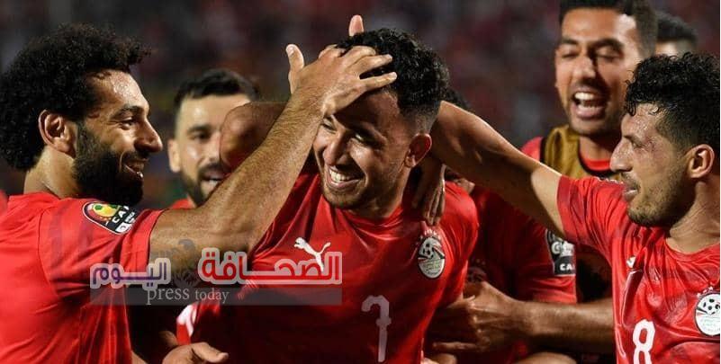 """هدف """"تريزيجيه"""" يمنح المنتخب المصرى بدايه قويه"""