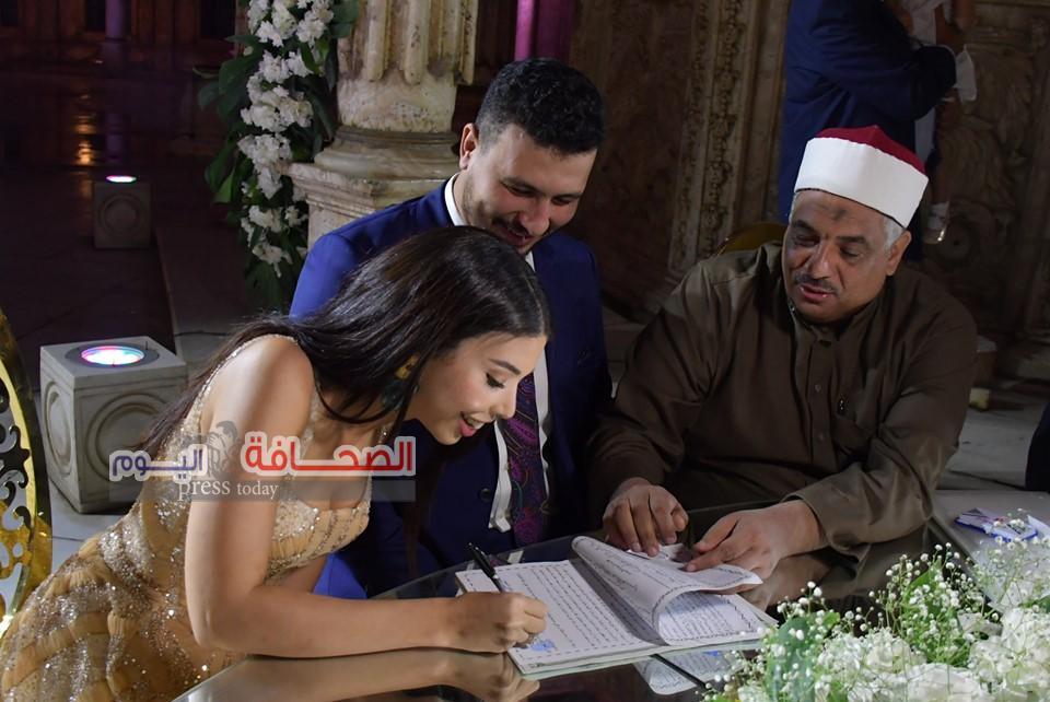 بالصور .. نجوم المجتمع فى زفاف على عبد القوى وروان ماجد