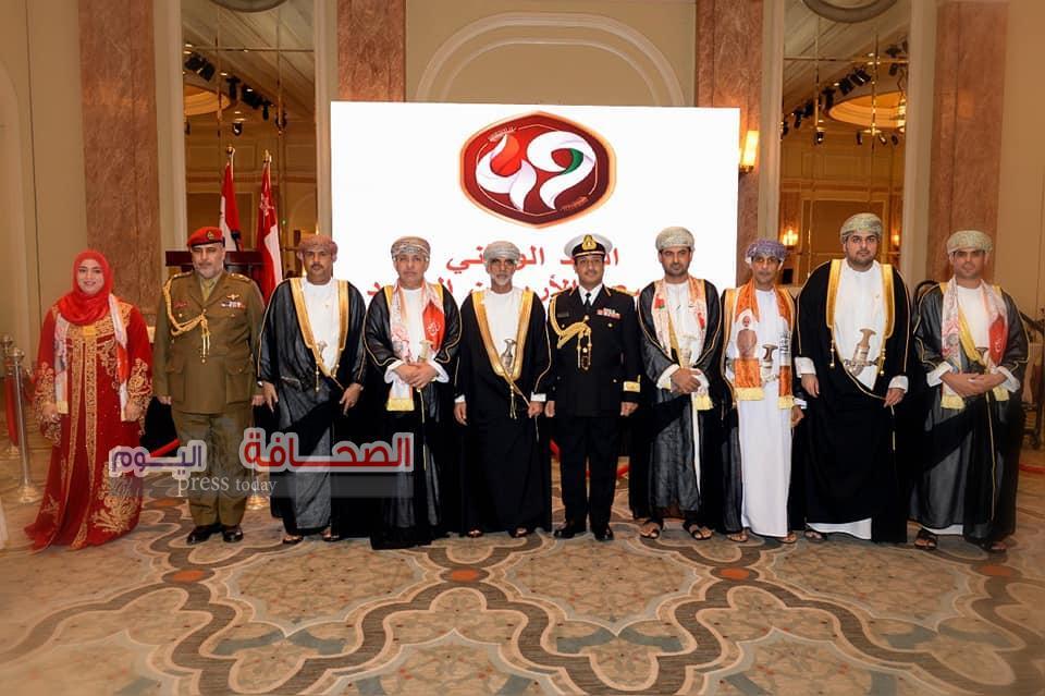 سفارة سلطنة عمان بالقاهرة تحتفل  بالعيد الوطنى الـ49 للسلطنة