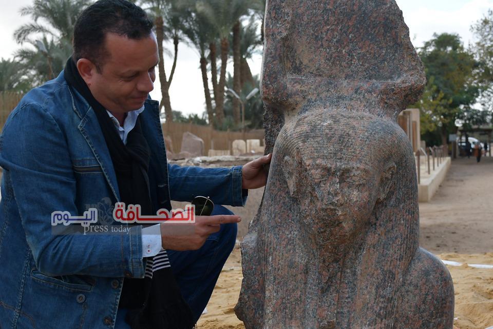 تجديد حبس بقال لترويجه  آثار مدينة منف
