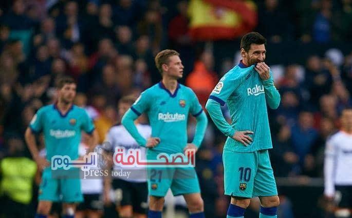 """نادى فلنسيا يفوز على برشلونه 2 صفر فى أول هزيمة للمدرب الجديد """"كيكى"""""""